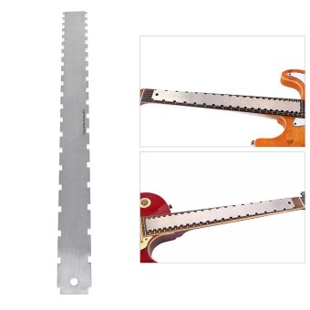 Dual Scale Stainless Steel Guitar Neck Notched Straight EdgeLuthiers Tool Measurement Fretboard and Frets - intl