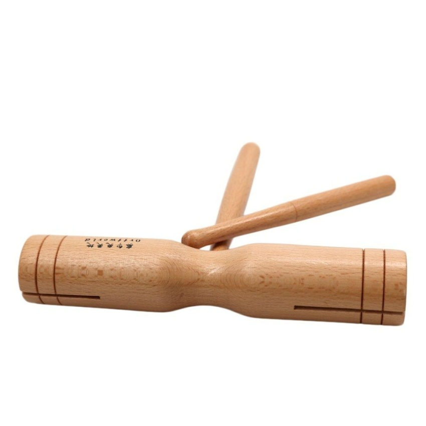 Era beech wood double tone block percussion wooden crow