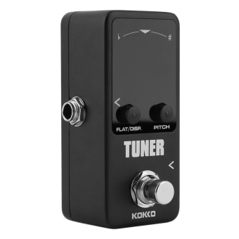 GOOD Pedal Tuner Guitar Bass Violin Stringed Instruments Tuner Effect Device Black - intl