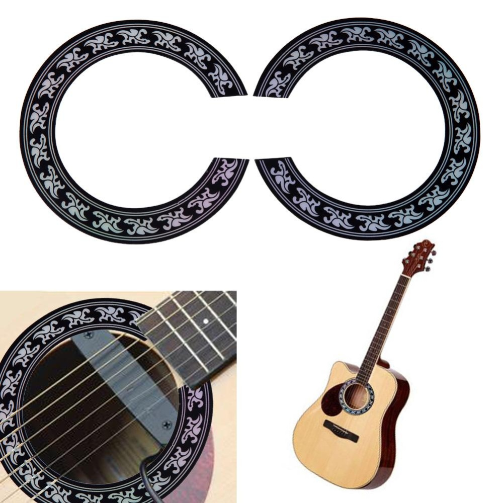 ... Guitar Circle Sound Hole Rosette Inlay for Acoustic Guitars DecalAccessory(Black)-38 39 ...