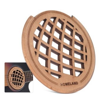 "Guitar Wooden Soundhole Sound Hole Cover Block Feedback BufferMaple Wood for 40"" 41"" EQ Acoustic Folk Guitars ^ - intl"