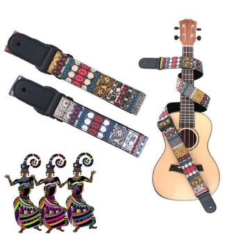 HLY Ajustable Sturdy And Wearable Ukulele Hot Sale Chinese Style Designpurified Cotton Knitting Ukulele Shoulder Strap Musical Instrumentsaccessories - intl