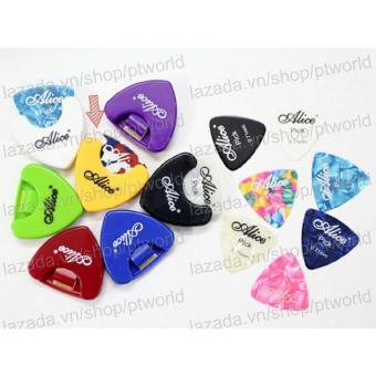Hộp Đựng Phím Đàn Guitar cao cấp Alice + 3 phím gảy Alice (Pick Holder + 3 Picks)