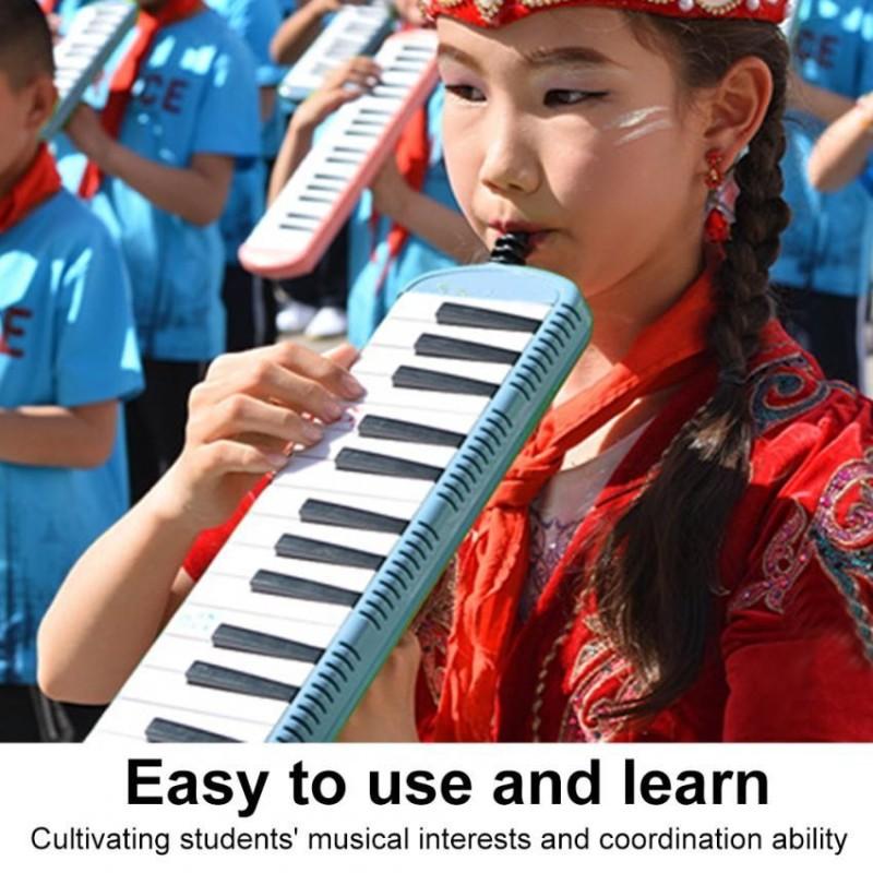 IRIN Keyboard Harmonica Musical Education Instrument for Beginner Kids Children(Blue 37 Keys) - intl