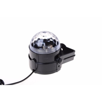 LED Music Active RGB Rotating Stage Crystal ball Xmas Club DJ PartyDisco LightI - intl
