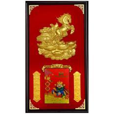 Mua Lịch khung gỗ treo tường Kim Mã Vượng Tài