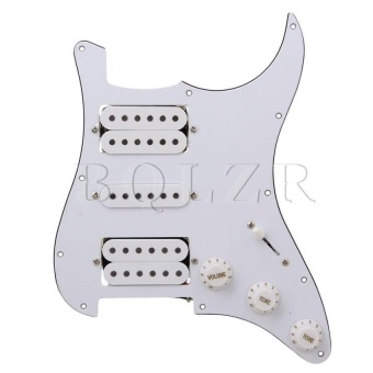 Loaded Pickguard Hsh For Humbuckers Guitar (White) - intl