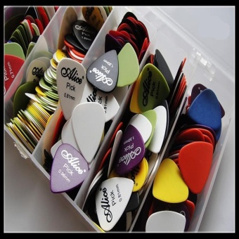Media, Music Books Guitar Bass Accessories 100X Electric Acoustic Guitar Picks Matte Plectrums(Assorted Thickness Colors) - intl