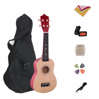 Media, Music Books Ukulele 7 In 1 21 Inch Wood Concert Ukulele With Free Bag Tuner Strap Spare String Wiper Ukulele Pick - intl