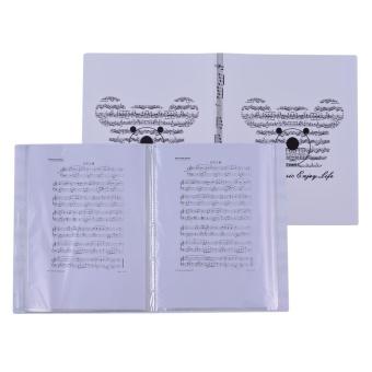 Music Sheet Score File Paper Documents Storage Folder HolderPlastic A4 Size 40 Package Pockets - intl