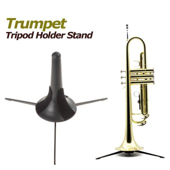 Portable Trumpet Tripod Holder Stand with Detachable Metal Leg -intl