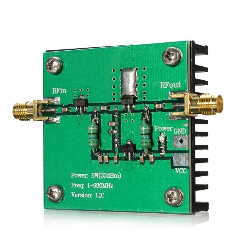 RF Broadband 1-930MHz 2W Power Amplifier Module For Radio Transmission FM HF VHF