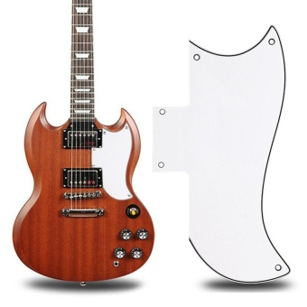 Scratch Plate Pickguard Gibson Sg Style Electric Guitars (White) - intl