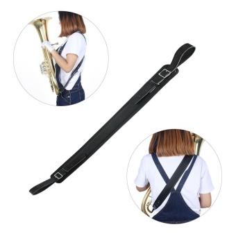 Synthetic Leather Tuba Strap 73-112cm Adjustable Length Single-shoulder Cross Body Style - intl