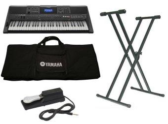 Trọn Bộ Đàn Organ Yamaha E453 + Bao đàn organ 2 lớp + Chân đàn organ kép + Pedal P80