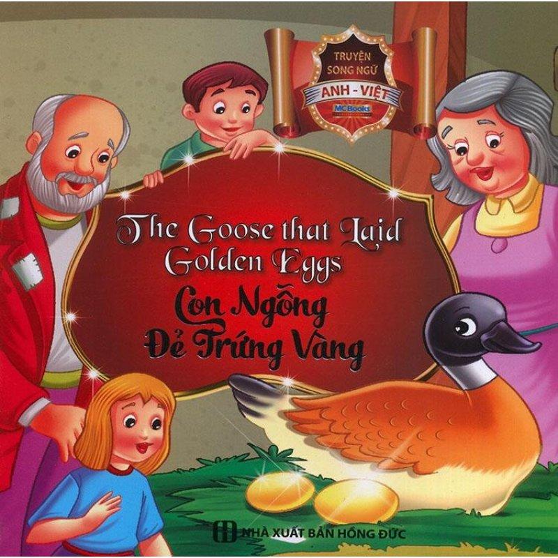 Mua Truyện song ngữ Anh Việt - The goose that laid golden eggs - Con ngỗng đẻ trứng vàng