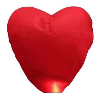 10pcs Heart Chinese Sky Lantern Wish Lantern Lamps Wedding Xmas Party Red - intl