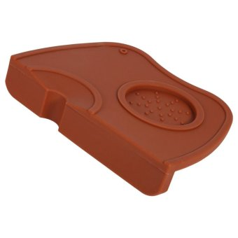 1pcs Anti-slip Espresso Coffee Tamper Tamping Holder Silicone MatPad (Coffee) - intl