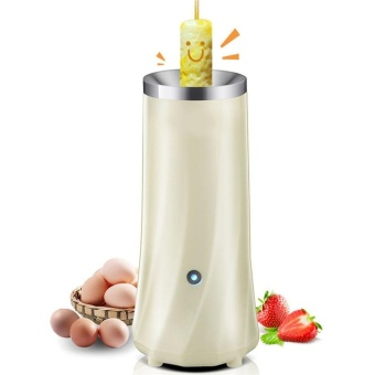 220V Electric Automatic Egg Roll Maker DIY Breakfast Machine (Beige) - intl