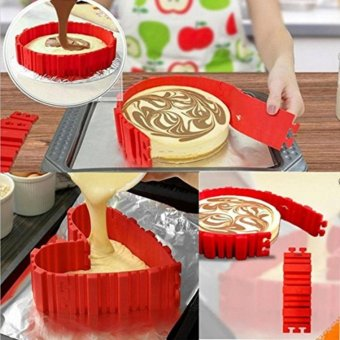 4pcs Snake Food Grade Silicone Cake Mold Magic Bake Mould ToolsStitch Any Shape DIY All Kinds of Baking Cake - intl