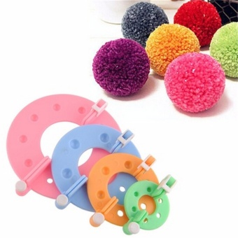 8pc DIY Fluff Ball Weaver Needle Craft Knitting Loom EssentialPompom Maker Tool Multicolor - intl