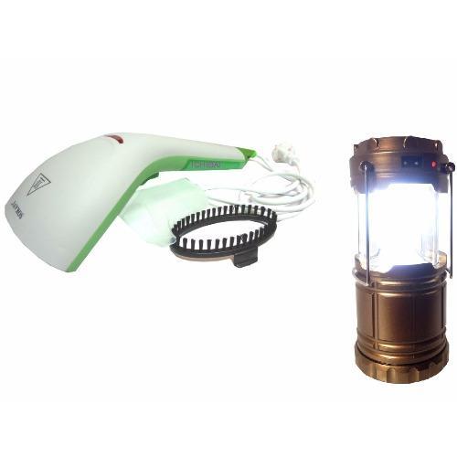 Bàn là hơi nước cầm tay cao cấp SoKany Tặng kèm đèn tích điện đa năng(Xanh)