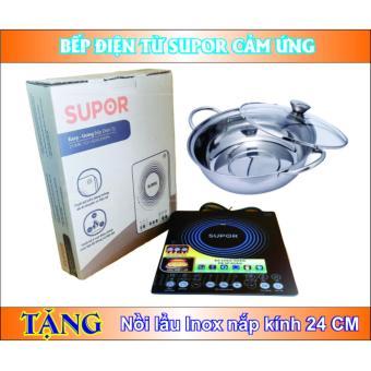 Bếp điện từ cảm ứng Supor Easy-using C21-SDHCB36VN (Đen) + Tặng nồi lẩu inox nắp kính 24 Cm