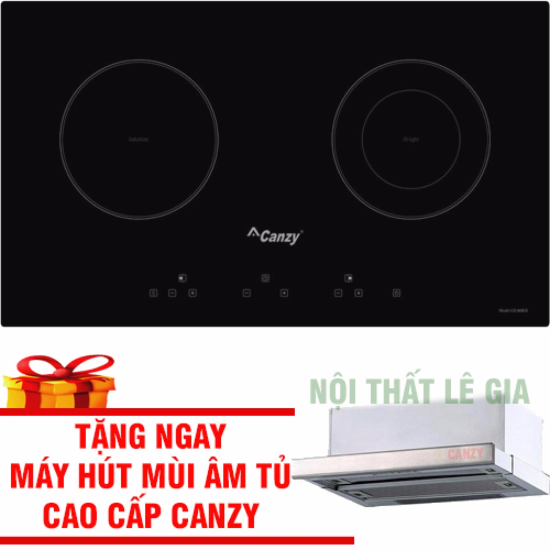 Bếp Điện Từ Canzy CZ 3002GS Tặng Máy Hút Mùi Âm Tủ Canzy