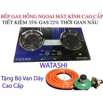 Bếp Gas Hồng Ngoại ÂM Hợp Kim Nhôm Cao Cấp Tiết Kiệm Gas 35% WATASHI 2in1 IC
