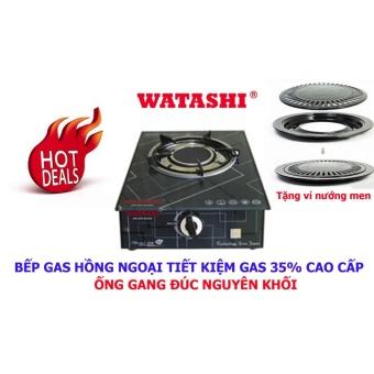 Bếp Gas Hồng Ngoại Đơn CAO CẤP WATASHI Tiết Kiệm 35% Gas WA016 Tặng Vỉ Nướng Men