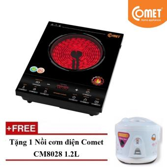 Bếp hồng ngoại Comet CM5526 + Tặng 1 Nồi cơm điện Comet CM8028 1.2L