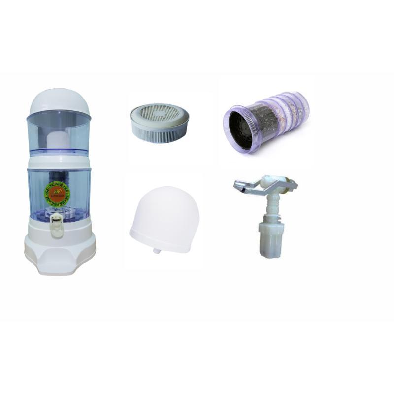 Bình lọc nước 23 lít + than 5 tầng,nấm sứ,vòi và đá khoáng