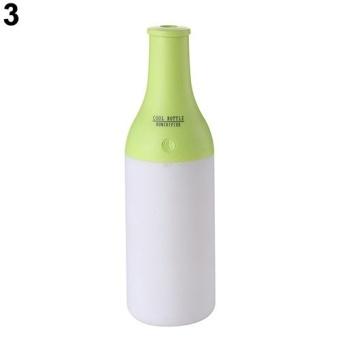Bluelans® USB Mini Wine Bottle Air Humidifier Aroma Diffuser OfficeNight Light Mist Maker (Green) - intl