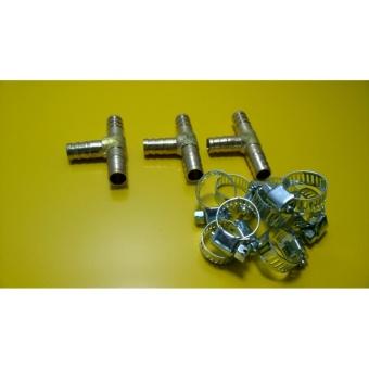 Địa Chỉ Bán Bộ 3 tê đồng nối ống 10mm + kèm 9 quai nhê (đai thít)  Điện nước, Hàng sắt – Bình Thuật