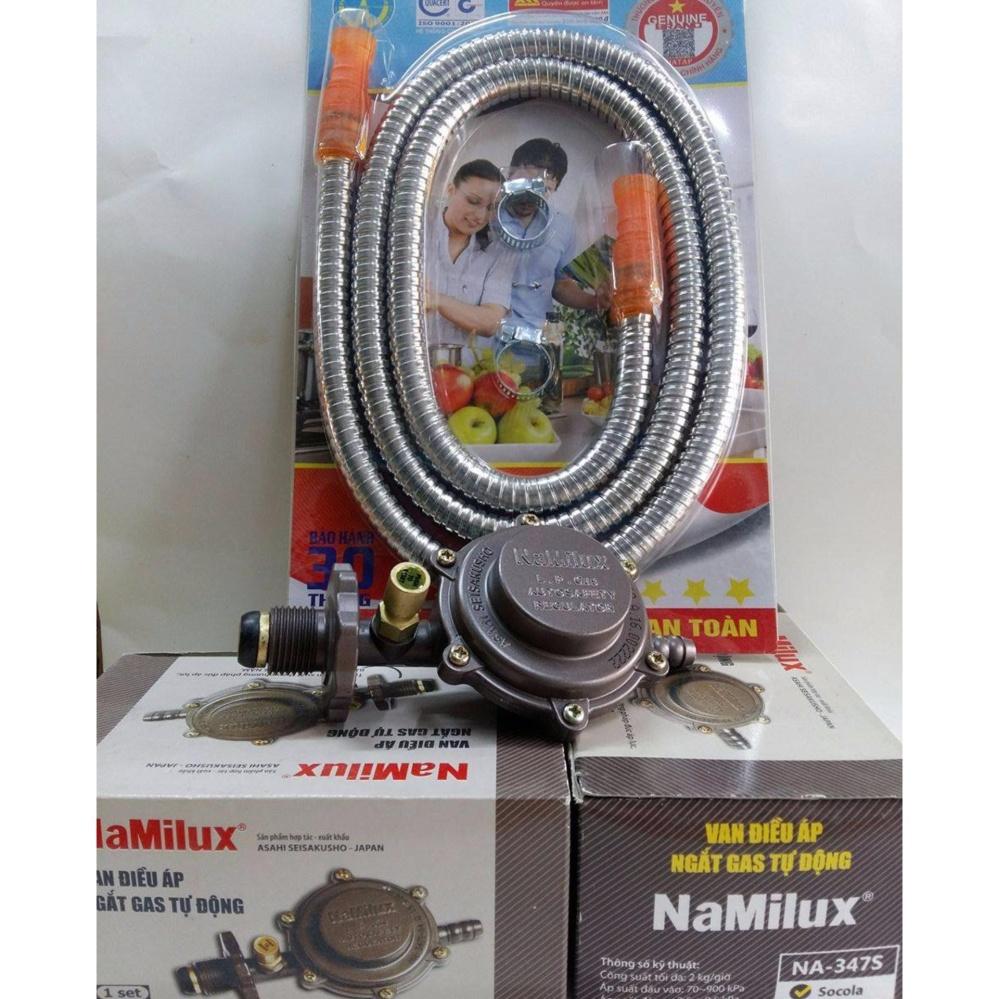 Bộ Combo Van gas namilux 347S và dây gas bọc ionx chống chuột Cắn