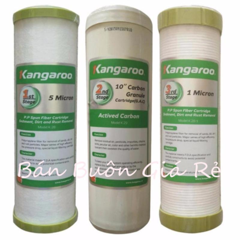 Bộ lõi lọc nước kangaroo số 1,2,3 BB55