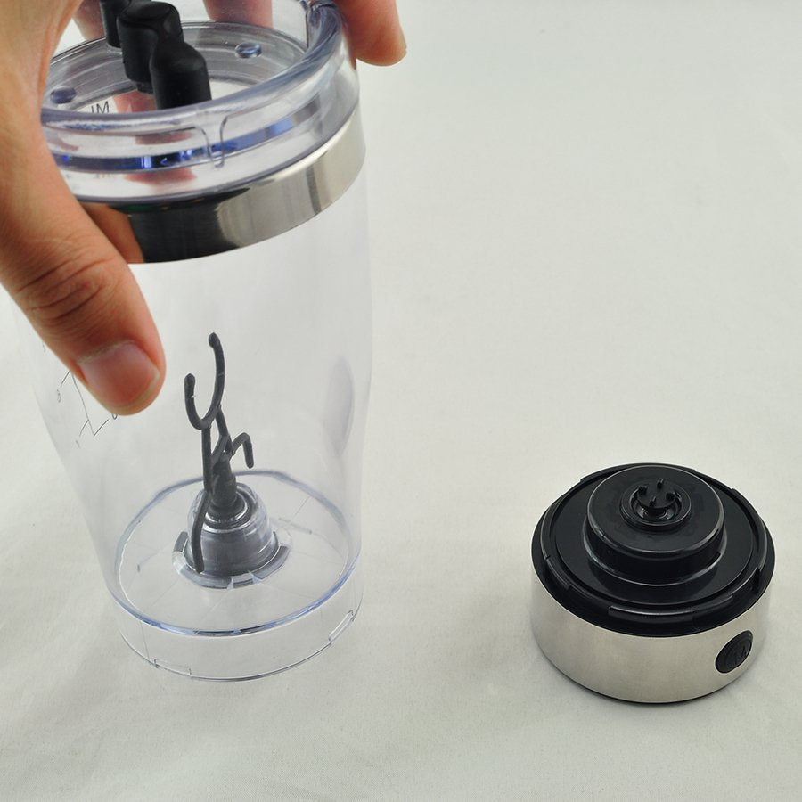 Carejoy Portable Stainless Steel Electric Mixer Blender ShakerBottle 450ml