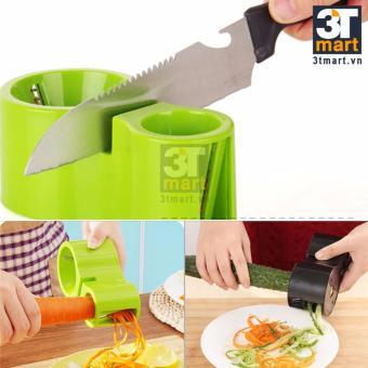 Dụng cụ bào sợi rau củ + dụng cụ mài dao (2 trong 1)