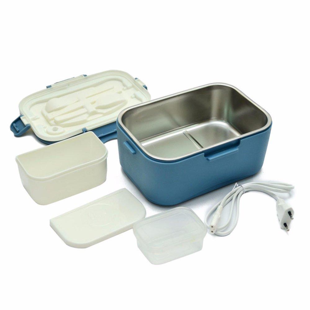 Hộp cơm điện hâm nóng chefman lồng inox (màu xanh) ANHDUY STORE