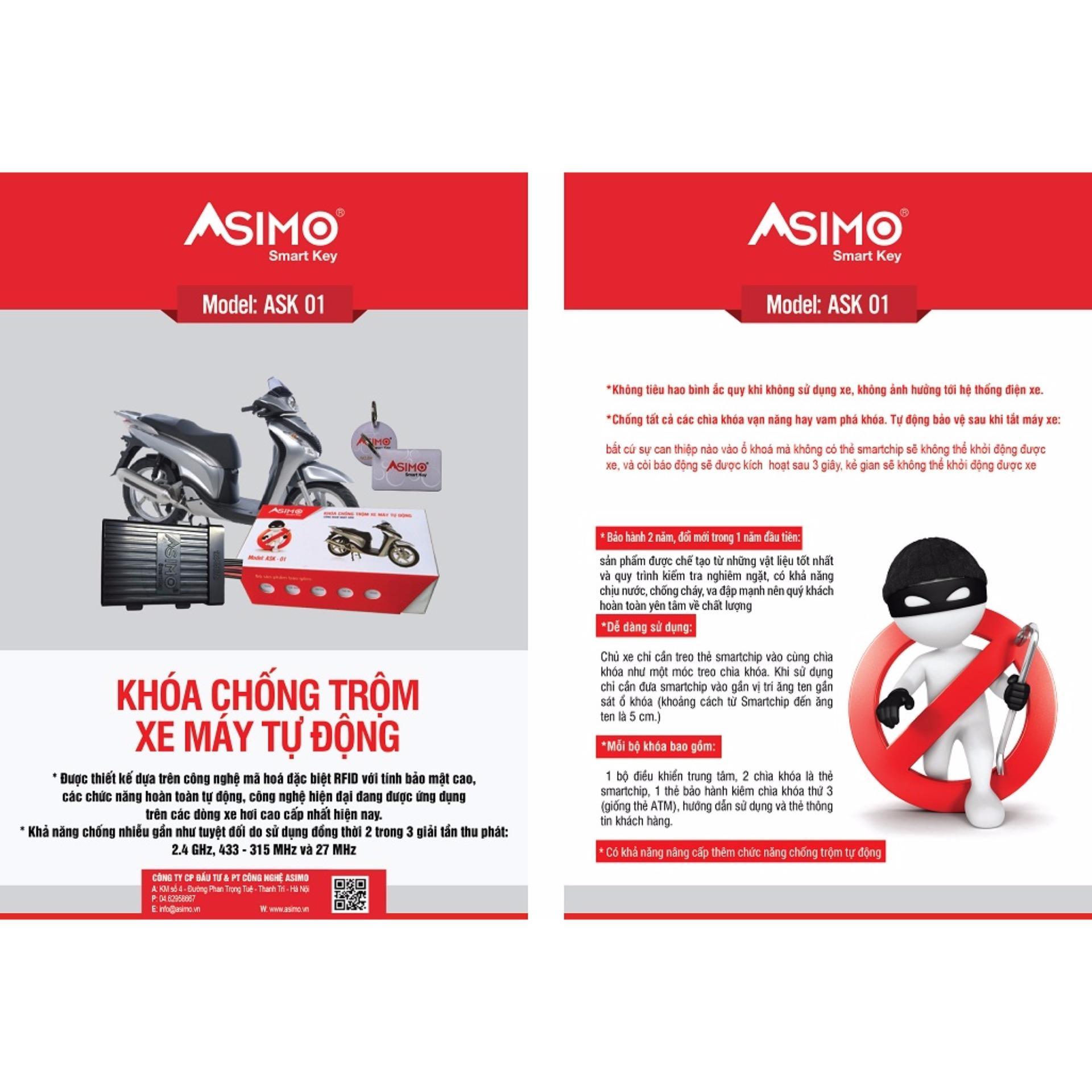 Khóa báo động chống trộm xe máy Asimo