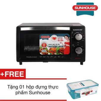 Lò nướng Sunhouse SHD4210 10L (Đen) + Tặng 01 Hộp đựng thực phẩm Sunhouse
