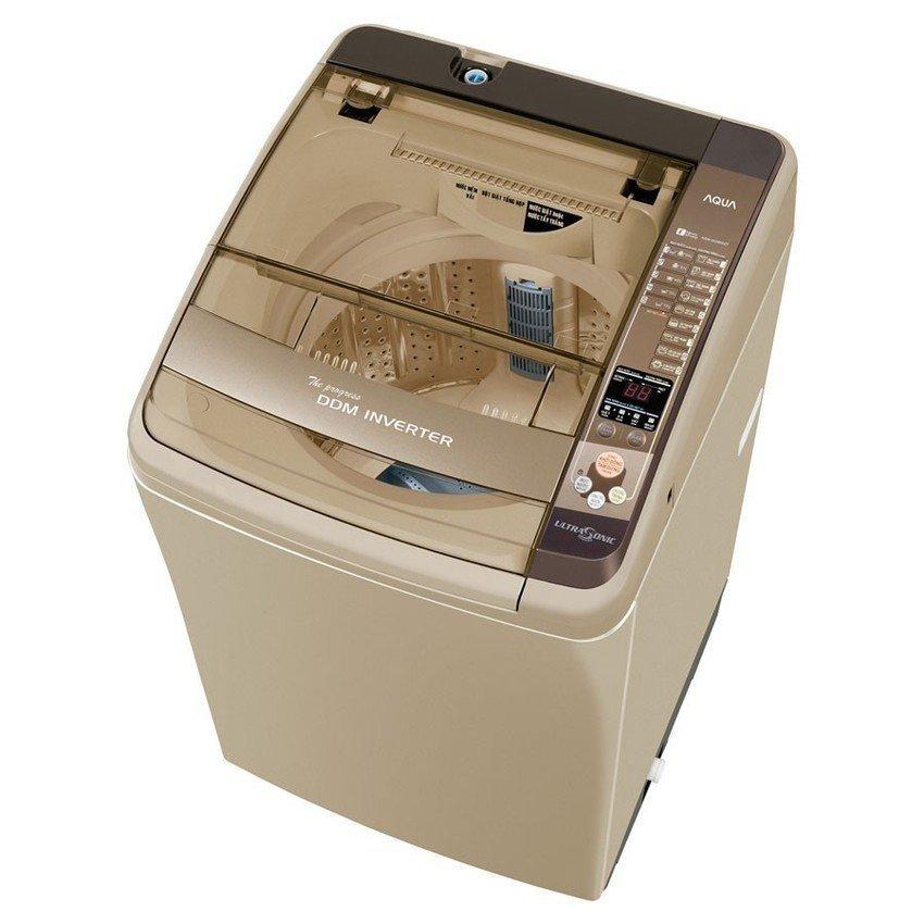 Hình ảnh Máy giặt cửa trên Aqua AQW - DQ900ZT 9kg (Vàng kim)