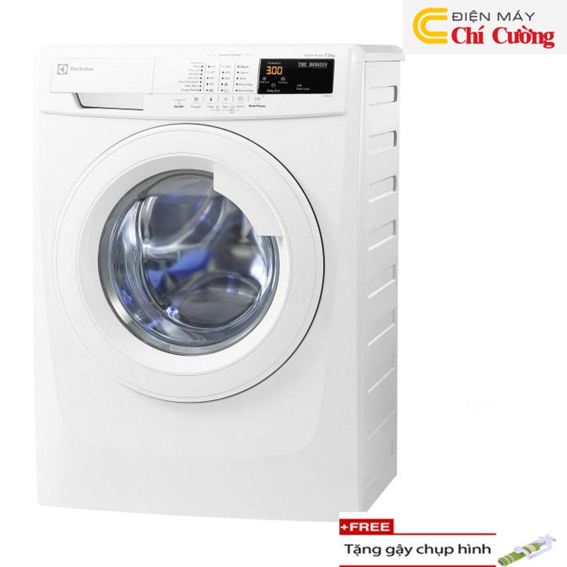 Máy giặt lồng ngang Electrolux EWF85743 7.5kg (Trắng) + Tặng 1 gậychụp hình