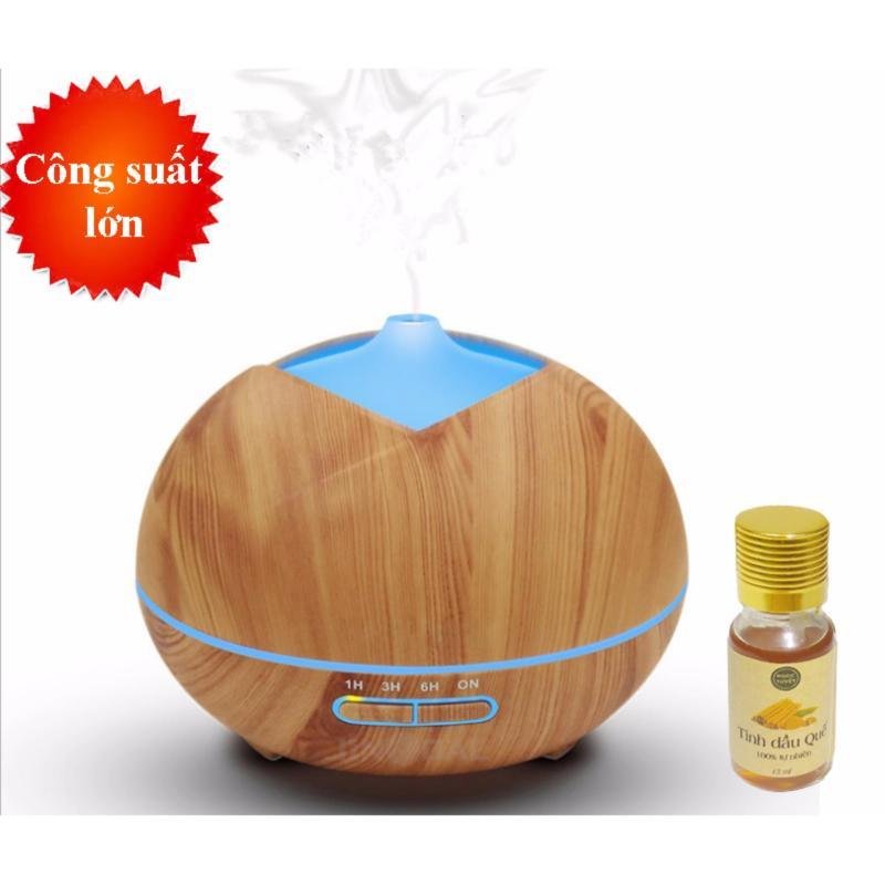 Bảng giá Máy khuếch tán tinh dầu dung tích 300ml tặng 10ml tinh dầu quế Ngọc Tuyết