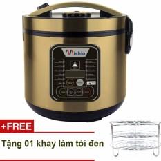 Đánh Giá Máy làm tỏi đen đa năng Mishio MK10 (vàng đồng) + Tặng khay làm tỏi đen