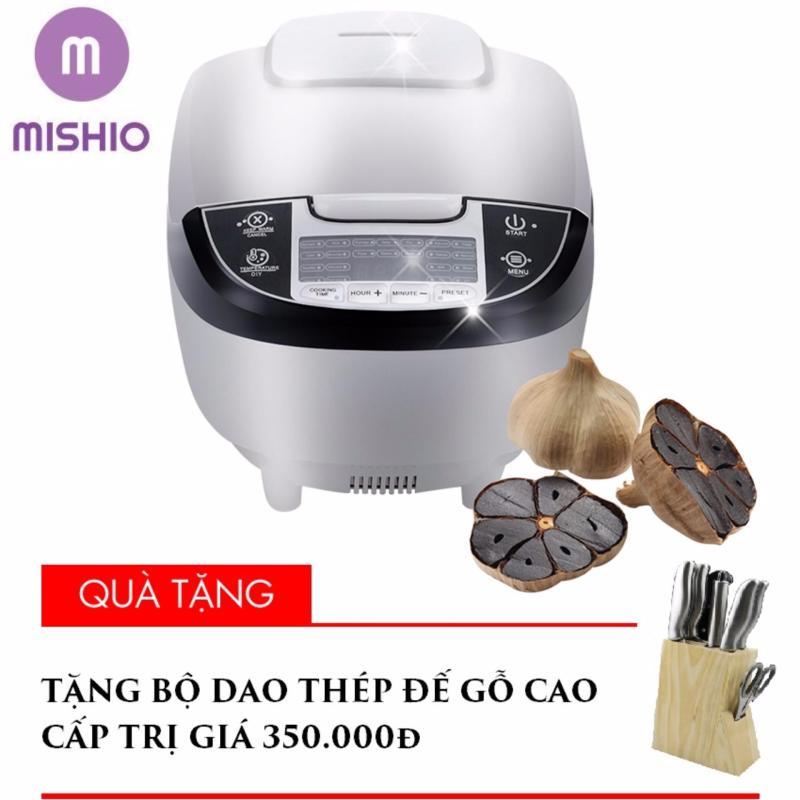Máy làm tỏi đen nhiệt 4D ceramic Mishio + Tặng bộ dao thép 8 món cán thép