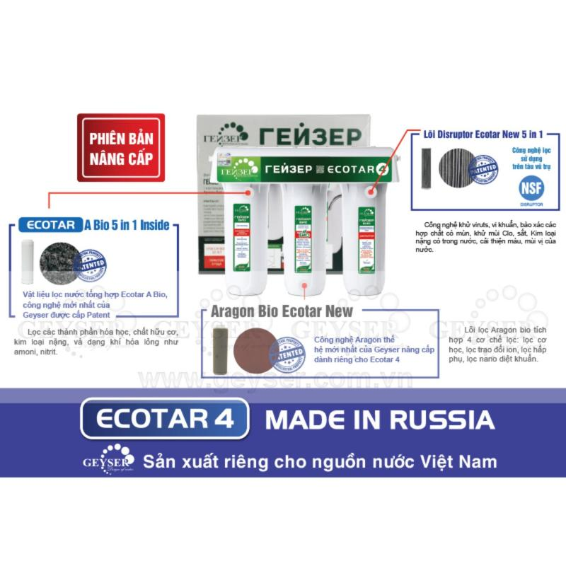 Máy lọc nước nano geyser Ecotar 4 made in Russia 2017