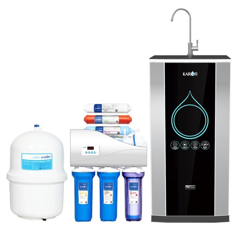 Máy lọc nước thông minh IRO 2.0 Karofi, 8 cấp, tủ IQ K8IQ-2