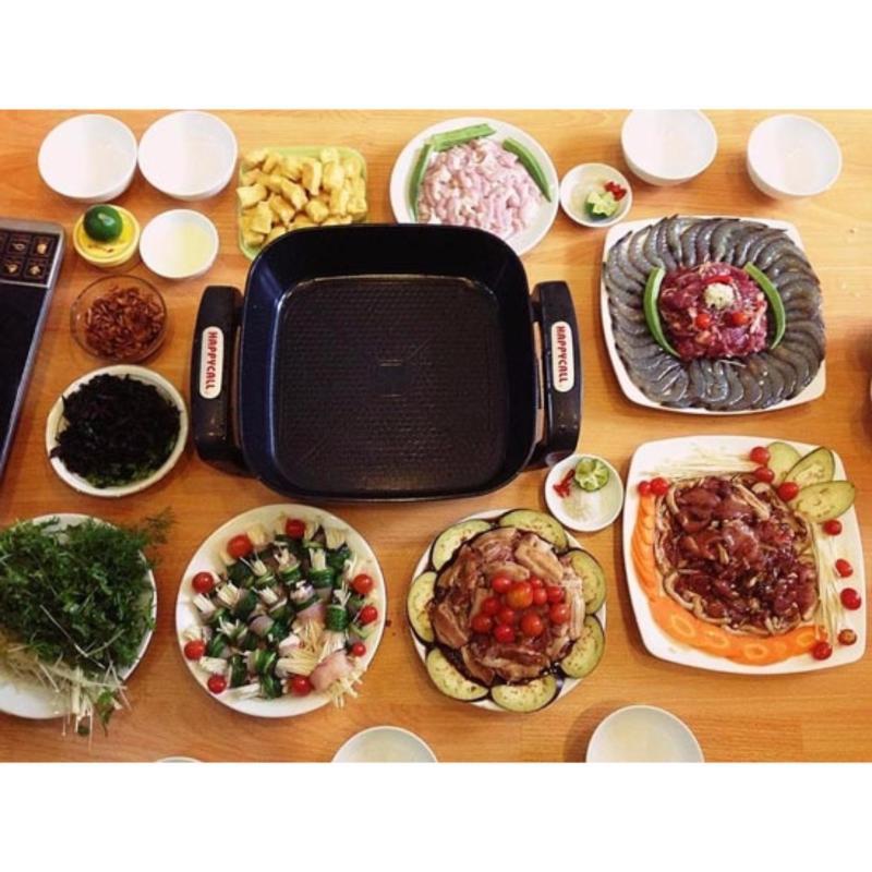 Máy Nướng Thịt Bằng Điện, Bếp Lẩu,Nướng, Xào, Nấu, Đa Năng Hpc-001, Lò Chiên Điện - Hàng Cao Cấp Nhập Khẩu, Xả Kho Chỉ Hôm Nay