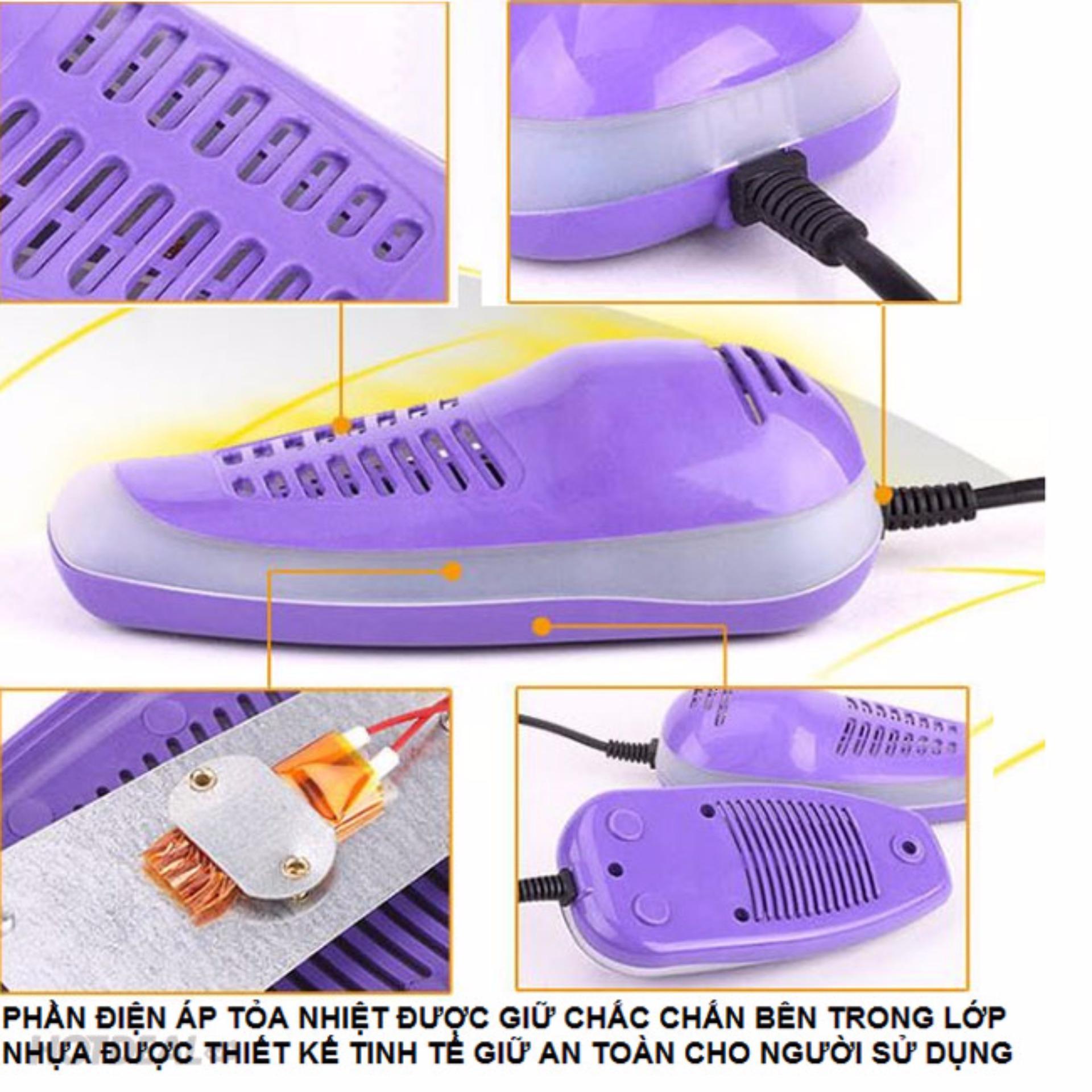 Máy Sấy Giày Cao Cấp 14W Khử Mùi Hôi Tỏa Nhiệt 60 Độ